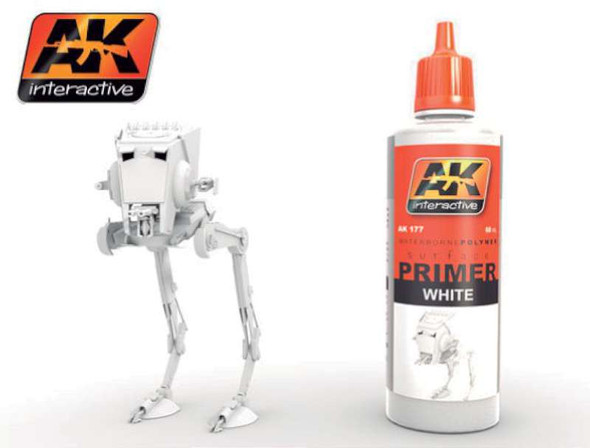 AK Interactive White Acrylic Primer 60ml Bottle -- Hobby and Model 177