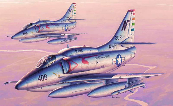 A-4F Skyhawk Attack Aircraft, 1/32 by Trumpeter, Model Airplane