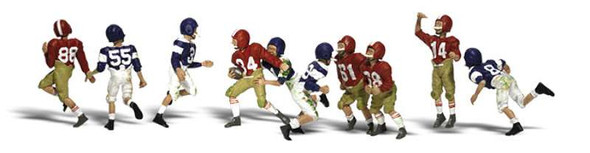 Woodland Scenics A2169 Youth Football Players N Scale Figures