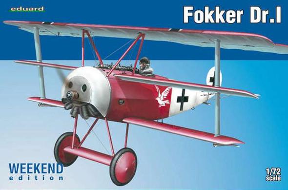 Fokker Dr.I Triplane (Weekend Edition), 1/72 by Eduard, Model Airpla