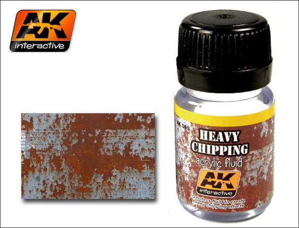 AK Interactive Heavy Chipping Effects Acrylic Paint 35ml Bottle --