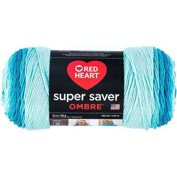 Red Heart Super Saver Ombre Yarn Scuba