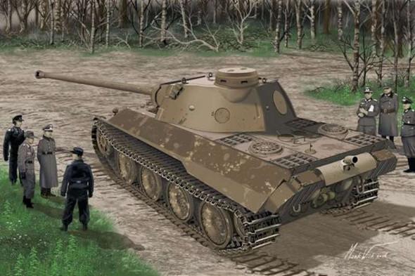 Dragon 6830 1:35 Panther Ausf.D V2 Versuchsserie - Smart Kit