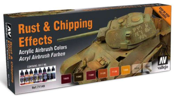 Vallejo Acrylic Paints Rust & Chipping Effects Model Air Paint