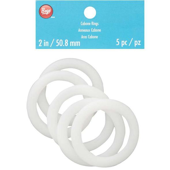 """Cabone Rings 2"""" 5/Pkg"""