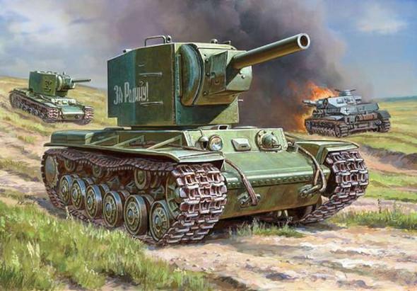 Zvezda 1/100 KV-2 Heavy Soviet Tank 6202