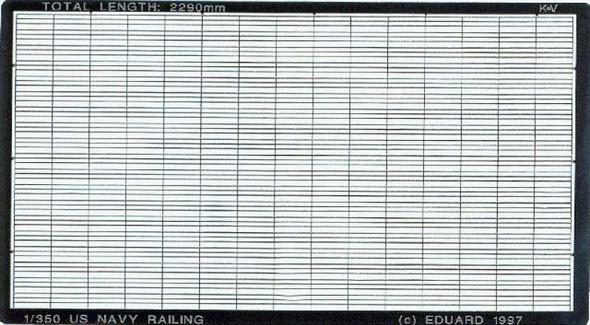 US Navy Ships railings- 1:350 -Eduard