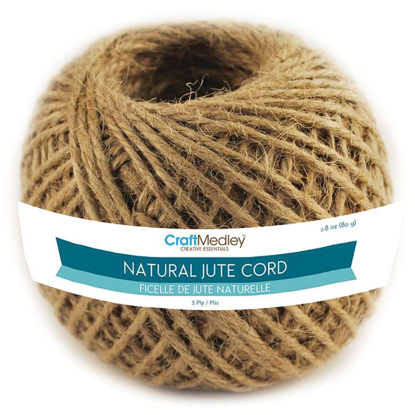 Jute Cord 3ply 80g Natural