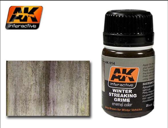 AK Interactive Winter Streaking Grime Enamel Paint 35ml Bottle --