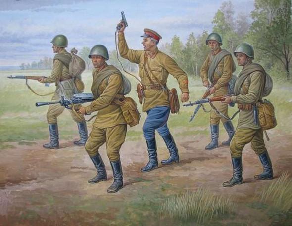 Zvezda 1/72 Soviet Regular Infantry 1939-1942 6179