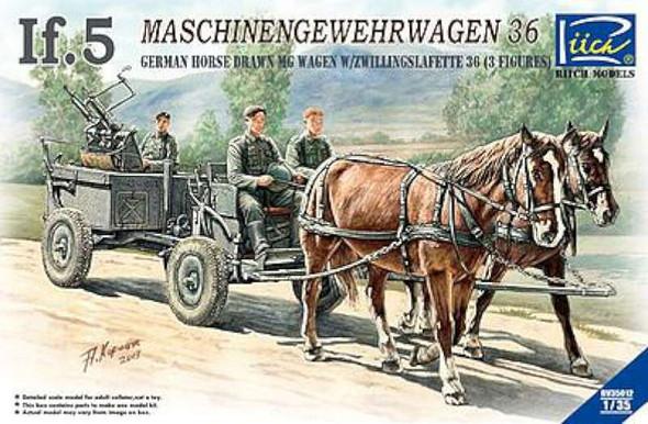 German If5 Horse Drawn MG Wagon -- Plastic Model Military Vehicle Kit -- 1/35 Scale -- #35012