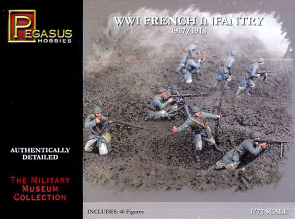 Pegasus 7199 WWI I French Army 1/72 Scale Plastic Model Figures