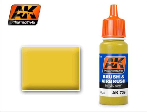 Yellow Acrylic Paint 17ml Bottle