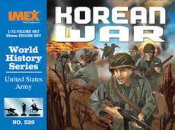 US Army Korean War Figure Set -- Plastic Model Military Figure -- 1/72 Scale -- #529