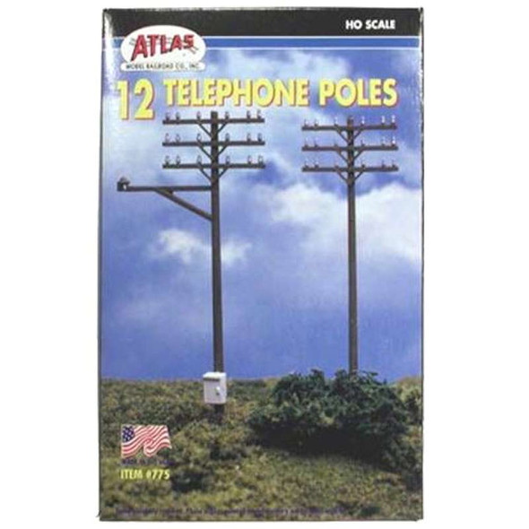 Atlas 775 Telephone Poles HO (12)