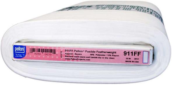 "Pellon Fusible Featherweight Interfacing White 20""X10yd"