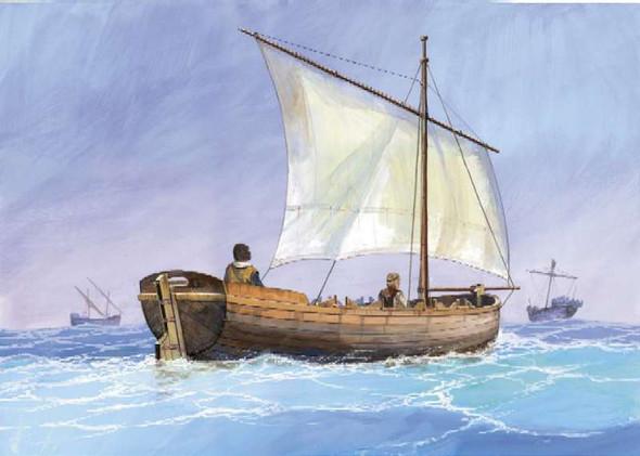 Medieval Life Boat / Dinghy 1:72
