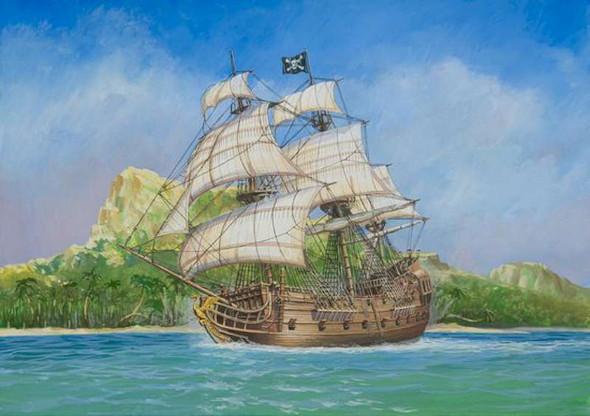 Zvezda - 9031 1/72 Pirate Ship Black Swan - Plastic Model