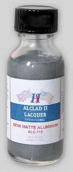 Alclad II Lacquers Semi-Matte Aluminum 1oz