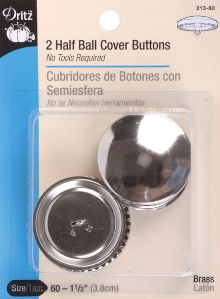 """Half-Ball Cover Buttons Size 60 1-1/2"""" 2/Pkg"""