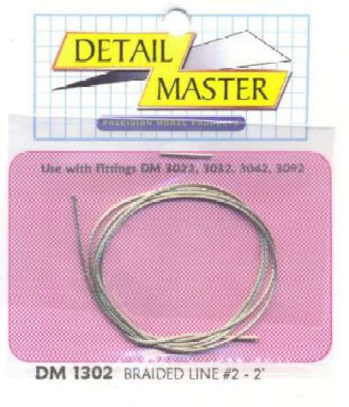 "2ft. Braided Line #2 (.025"") Detail Master"
