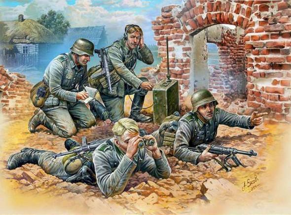 Zvezda German Reconnaissance Team WWII 1/72
