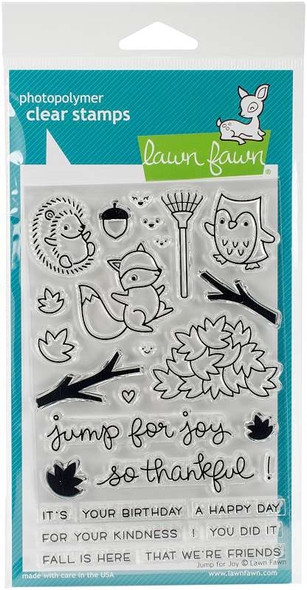 """Lawn Fawn Clear Stamps 4""""X6"""" Jump For Joy"""