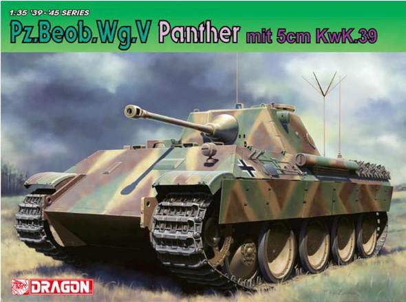 Dragon 6821 1:35 Pz.Beob.Wg. V Panther Tank w/5cm Kw.K. 39/1 Gun