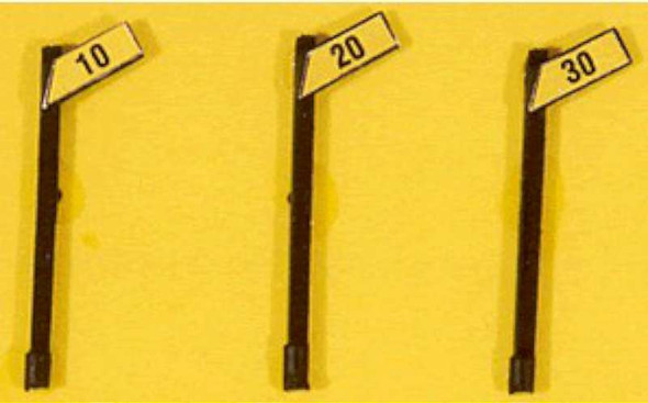 Angled Speed Signs - JL Innovative Design HO Scale Model Train Accessories 843