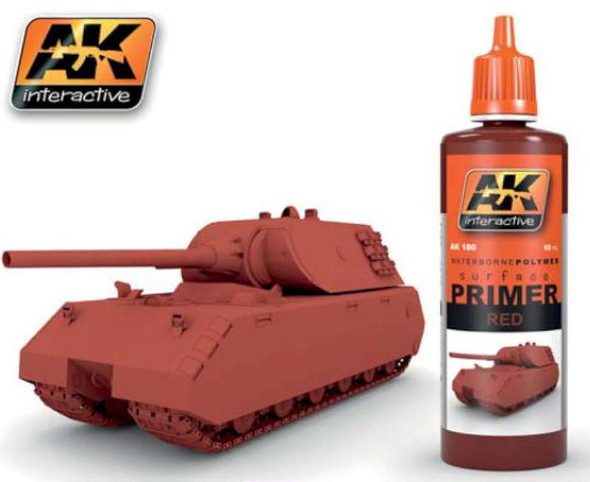 AK Interactive Red Acrylic Primer 60ml Bottle -- Hobby and Model 180