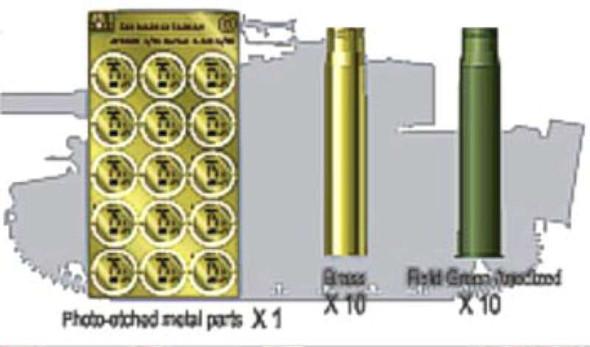 88mm L/56 Shells- 1:35 -AFV Club