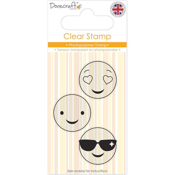 Dovecraft Smiley Clear Stamp Shades