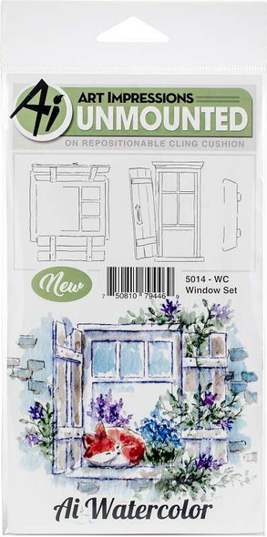 Art Impressions Watercolor Cling Rubber Stamps  Window