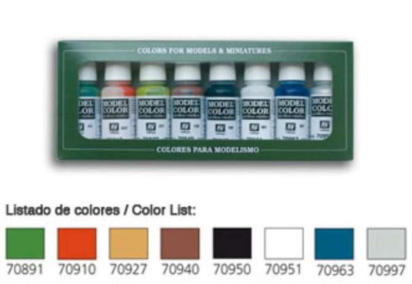 Vallejo Acrylic Paints 17ml Bottle Wargames Basics Model Color Paint