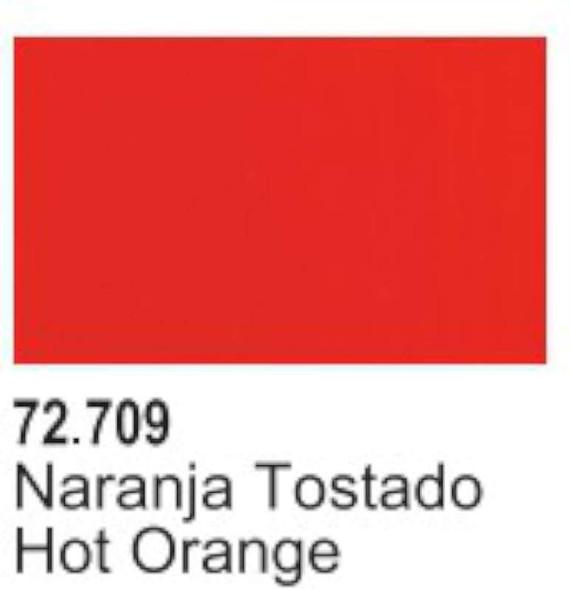 VAL72709 Hot Orange Acrylic Paint 17ml Bottle Game Air Vallejo