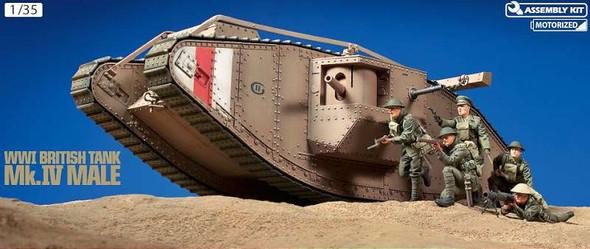 Tamiya 1/35 WWI British Tank Mk.IV Male W/Single Motor 30057