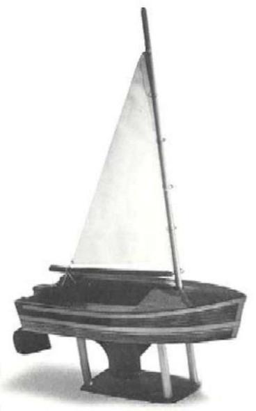 Dumas 12'' Sailboat Junior Kit -- Wooden Boat Model Kit -- #1007