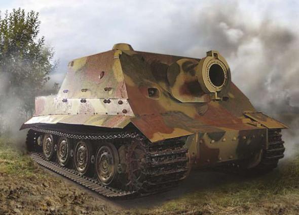 Sturmtiger Heavy Assault Gun - Snap-tite, 1/100 by Zvezda, Model Veh