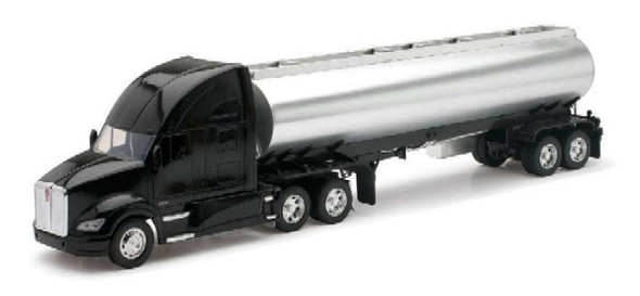 New Ray 1/32 Kenworth T700 Chrome Oil Tanker Diecast Truck Model
