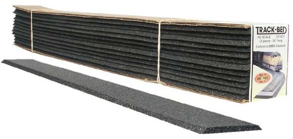 Woodland Scenics ST1471 HO 2' Track-Bed Strips (12)