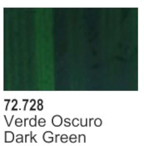 VAL72728 Dark Green Acrylic Paint 17ml Bottle Game Air Vallejo