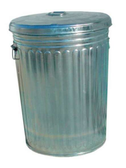 Magnolia Brush Pre-Galvanized Trash Can With Lid