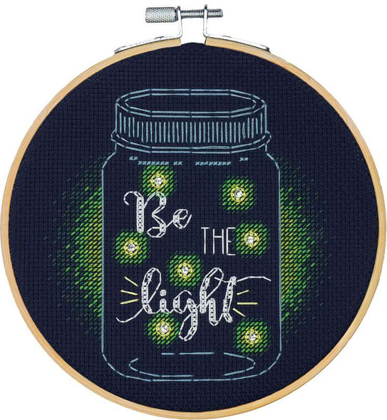 """Dimensions Counted Cross Stitch Kit W/Hoop 6"""" Be The Light (14 Count)"""
