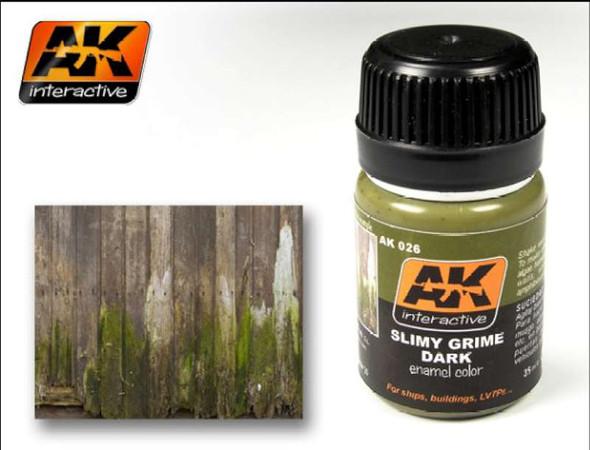 AK Interactive Slimy Grime Dark Enamel Paint 35ml Bottle -- Hobby
