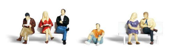 Woodland Scenics People Sitting - O Scale