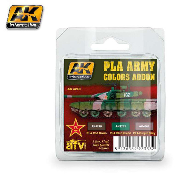 AFV Series: PLA Army Colors Add-on Acrylic Paint Set (3 Colors) 17ml Bottles