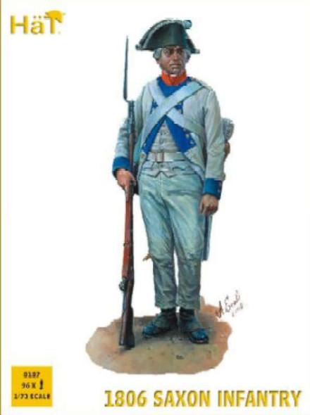 Model Figures - 1806 Saxon Infantry- 1:72 -HAT Industrie