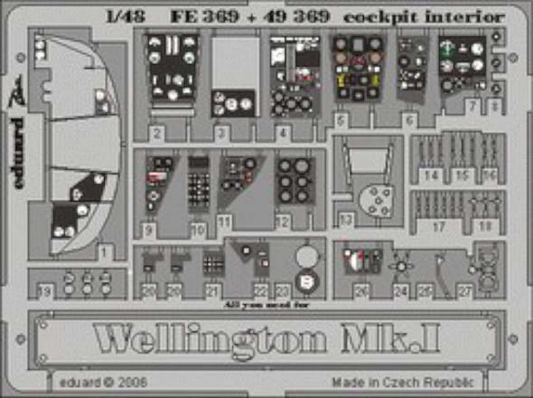 Vickers Wellington Mk.I Cockpit Interior PRE-PAINTED in