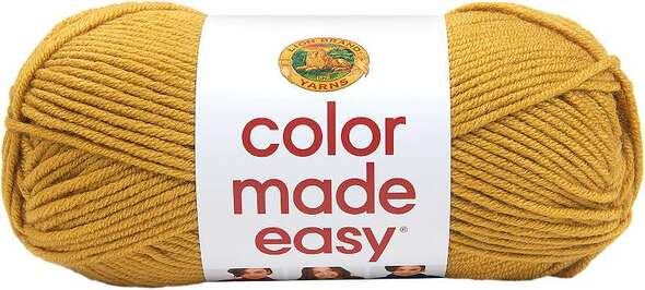 Lion Brand Yarn Color Made Easy Mineral Yellow