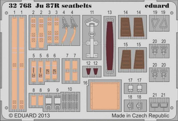 Junkers Ju 87R Stuka Seatbelts (designed to Be Used with